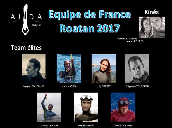 Équipe de France d'apnée AIDA 2017 Team Élites