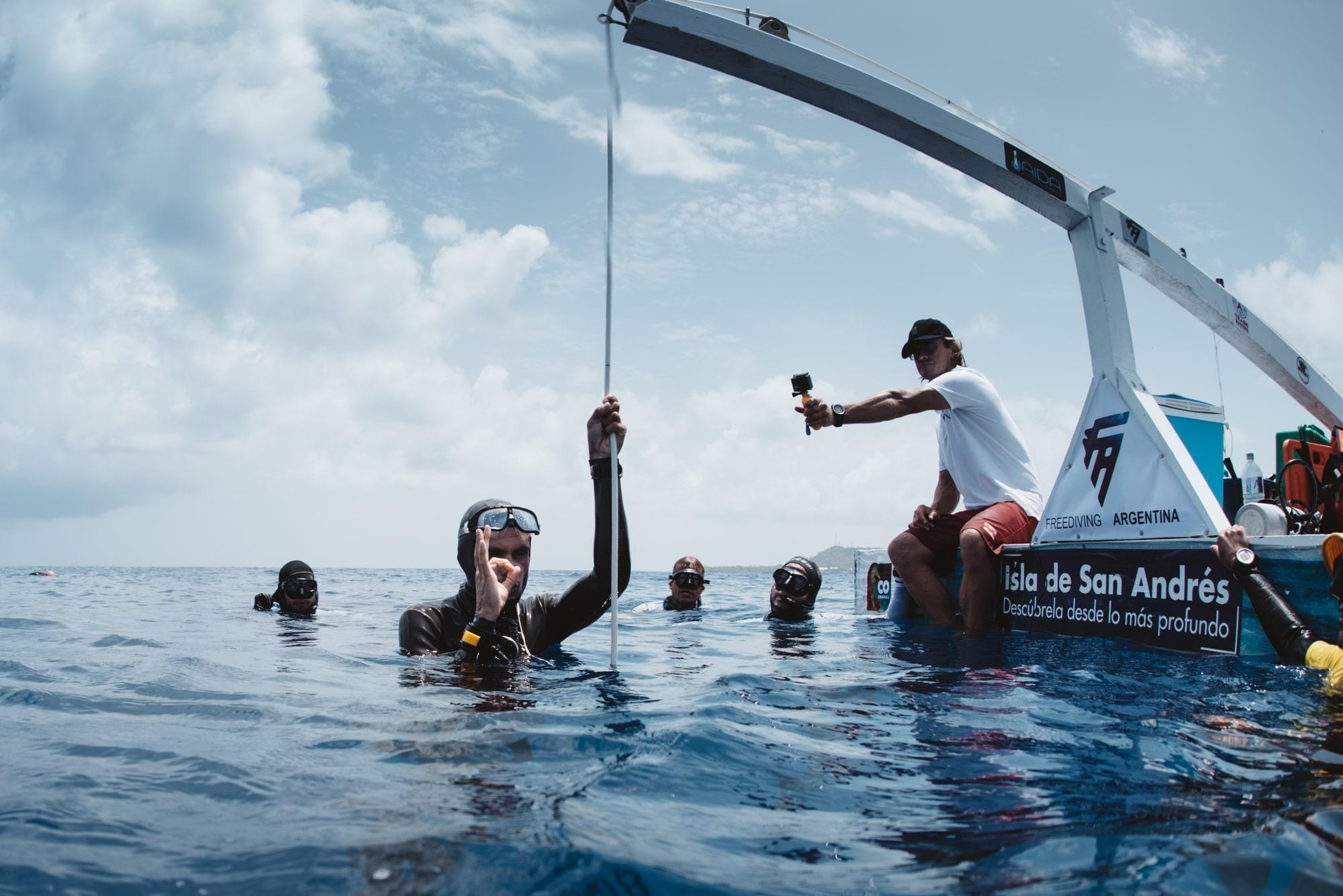 Christophe Leray en immersion libre