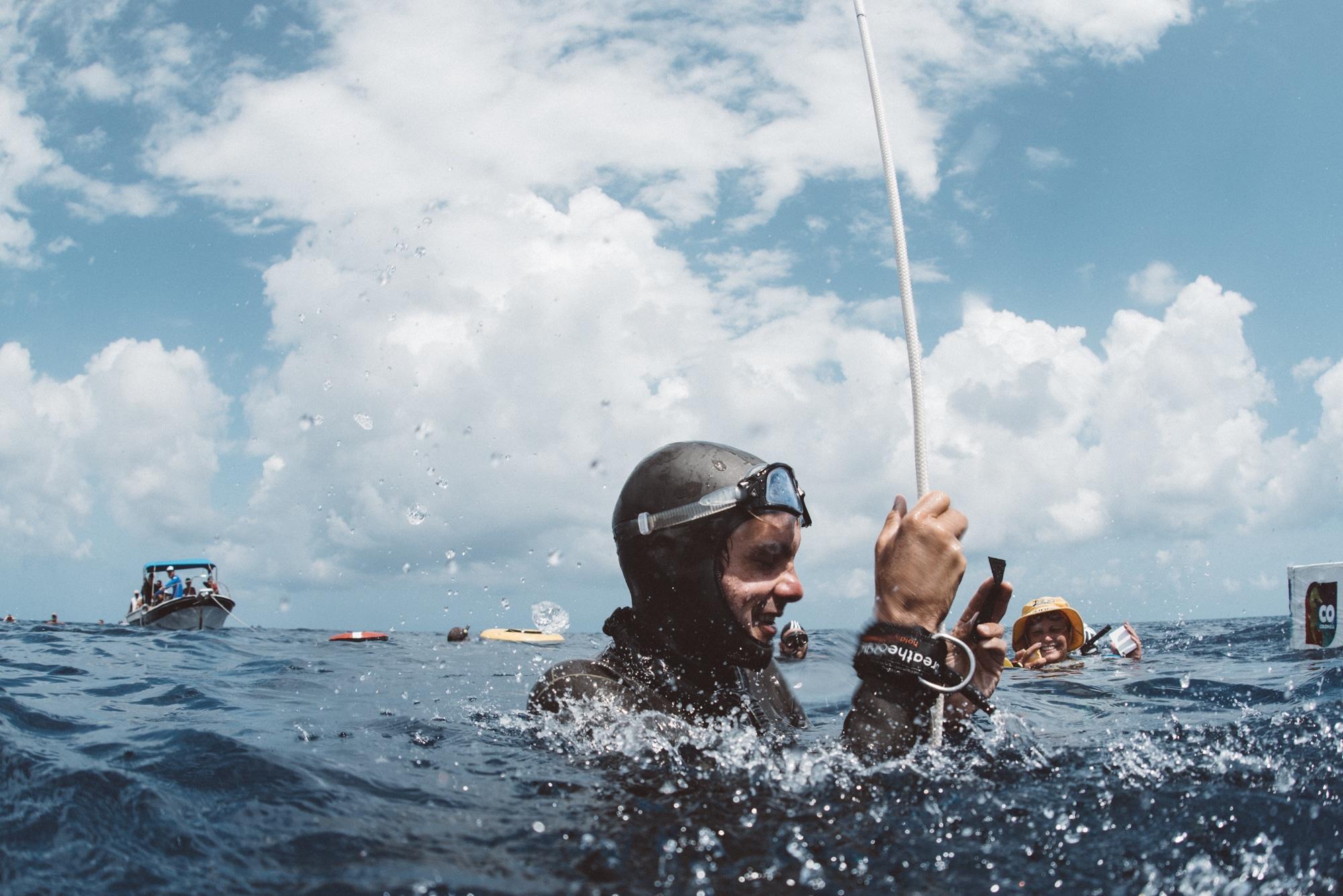Christophe Leray en séance d'immersion libre