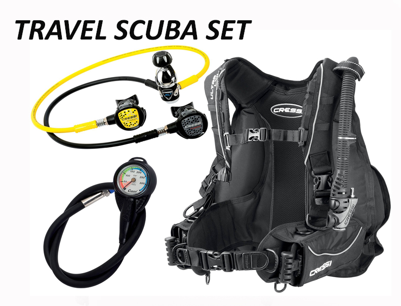 Kit voyage plongée Cressi Travel Scuba set