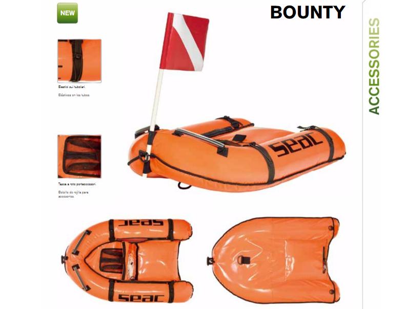 Planche de chasse sous-marine Bounty   Nouveautés Seac 2017