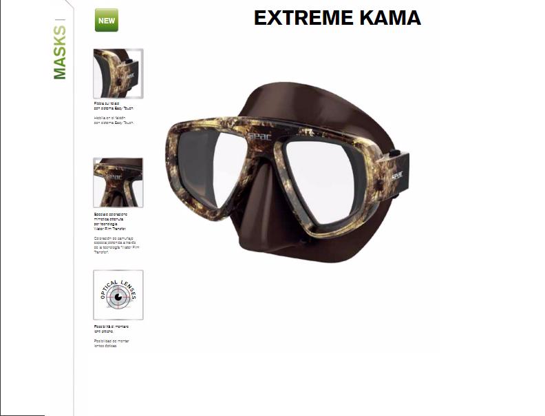 Masque de chasse sous-marine Extreme Kama   Nouveautés Seac 2017