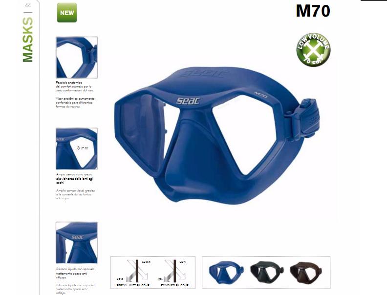 Masque de chasse & Apnée M70   Nouveautés Seac 2017