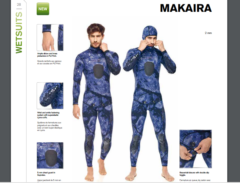 Combinaison de chasse sous-marine Makaira   Nouveautés Seac 2017