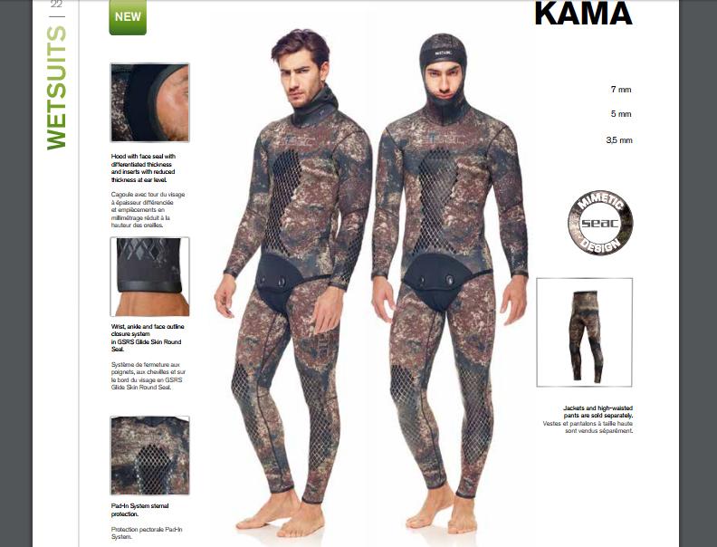 Combinaison de chasse sous-marine Kama   Nouveautés Seac 2017