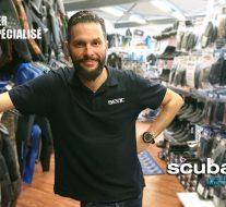 Geoffrey Geyer, vendeur spécialisé au magasin Scubaland