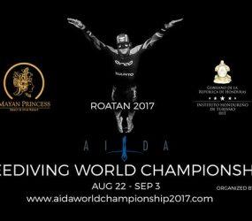 Championnat du Monde d'apnée AIDA 2017 à Roatan