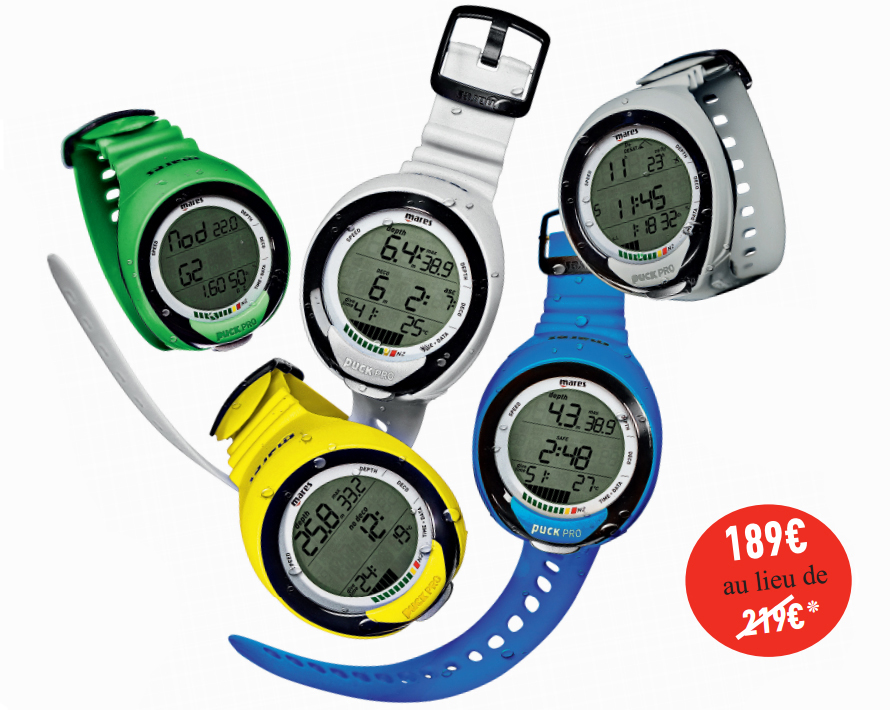 Montres ordinateurs de plongée MARES Puck Pro + Colors