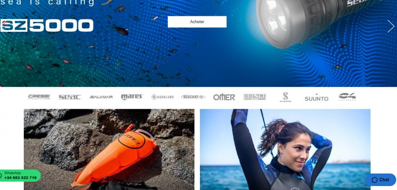 scubastor magasin en ligne activites aquatique